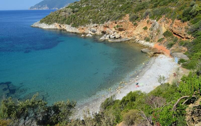 Řecko, Alonissos, Pláž Mikros Mourtias